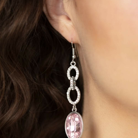 paparazzi Jewelry - Pink Diamond Dangle Earrings
